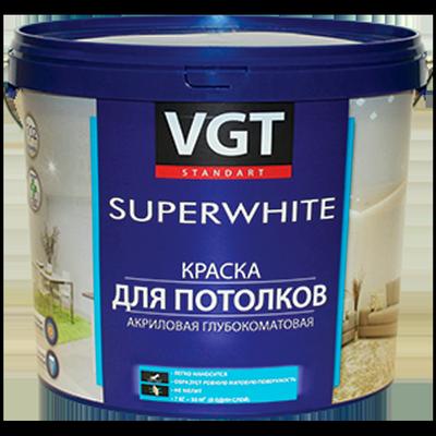 Краска ВД-АК-2180 для потолков Супербелая