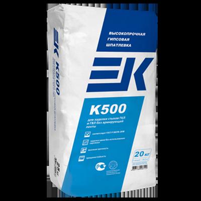 ЕК K500 Высокопрочная гипсовая шпатлёвка