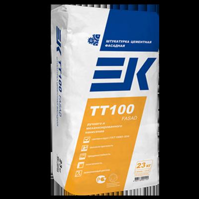 ЕК TT100 FASAD Штукатурка цементная фасадная для ручного и механизированного нанесения
