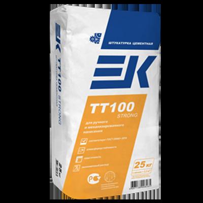 ЕК TT100 STRONG Штукатурка цементная ручного и механизированного нанесения