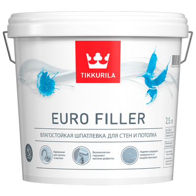 Шпатлевка влагостойкая EURO FILLER