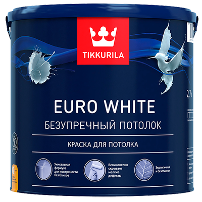 Краска для потолка EURO WHITE