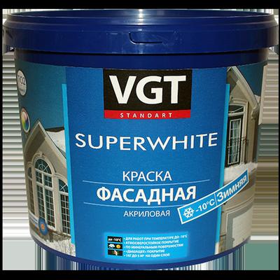 Краска ВД-АК-1180 фасадная Зимняя Супербелая (до -10ºС)