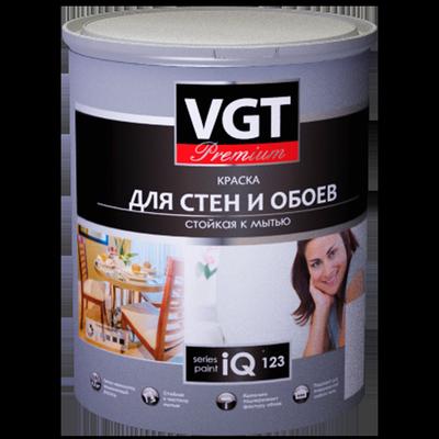 Краска для стен и обоев iQ123 Cтойкая к мытью