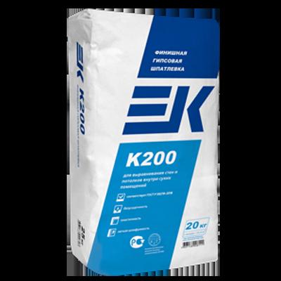 ЕК K200 Финишная гипсовая шпатлевка ЕК K200