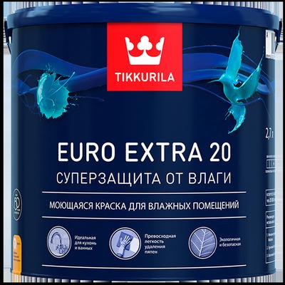 Краска для влажных помещений EURO EXTRA 20